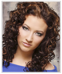 Cool Hairstyle 2014 Dark Brown Curly Hair With Light Brown Highlights